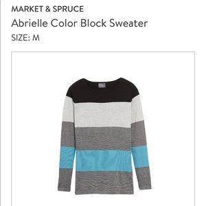 Market & Spruce color-block sweater